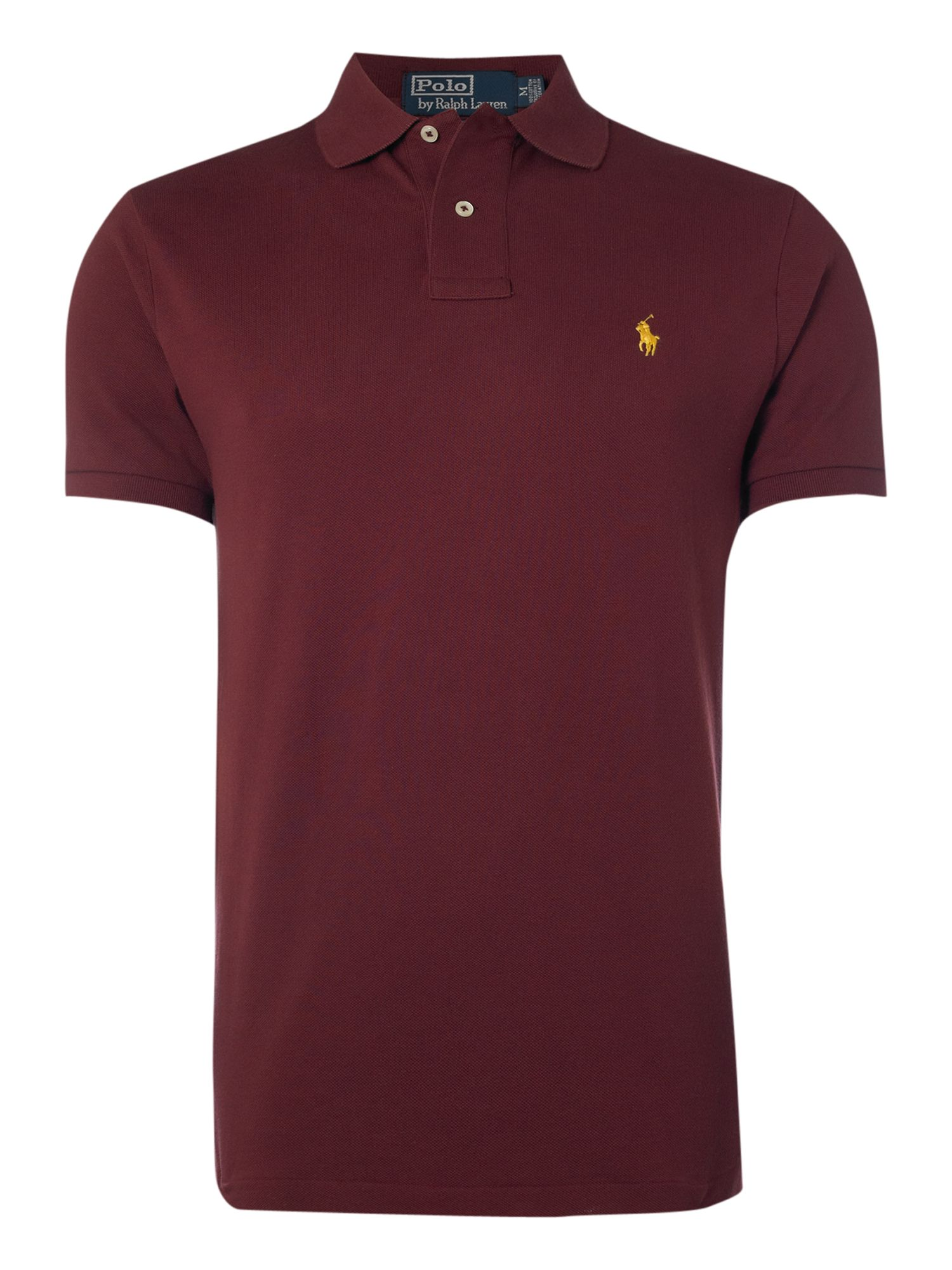 polo ralph lauren slim fit mesh polo shirt in red for men burgundy lyst. Black Bedroom Furniture Sets. Home Design Ideas
