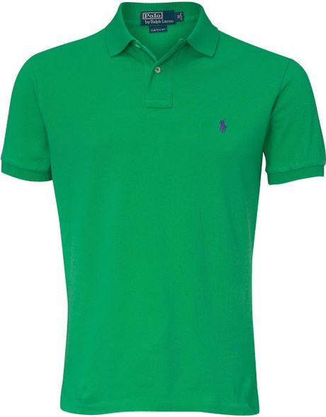 Ralph lauren mens polo shirt short sleeve color green for Dark green mens polo shirt