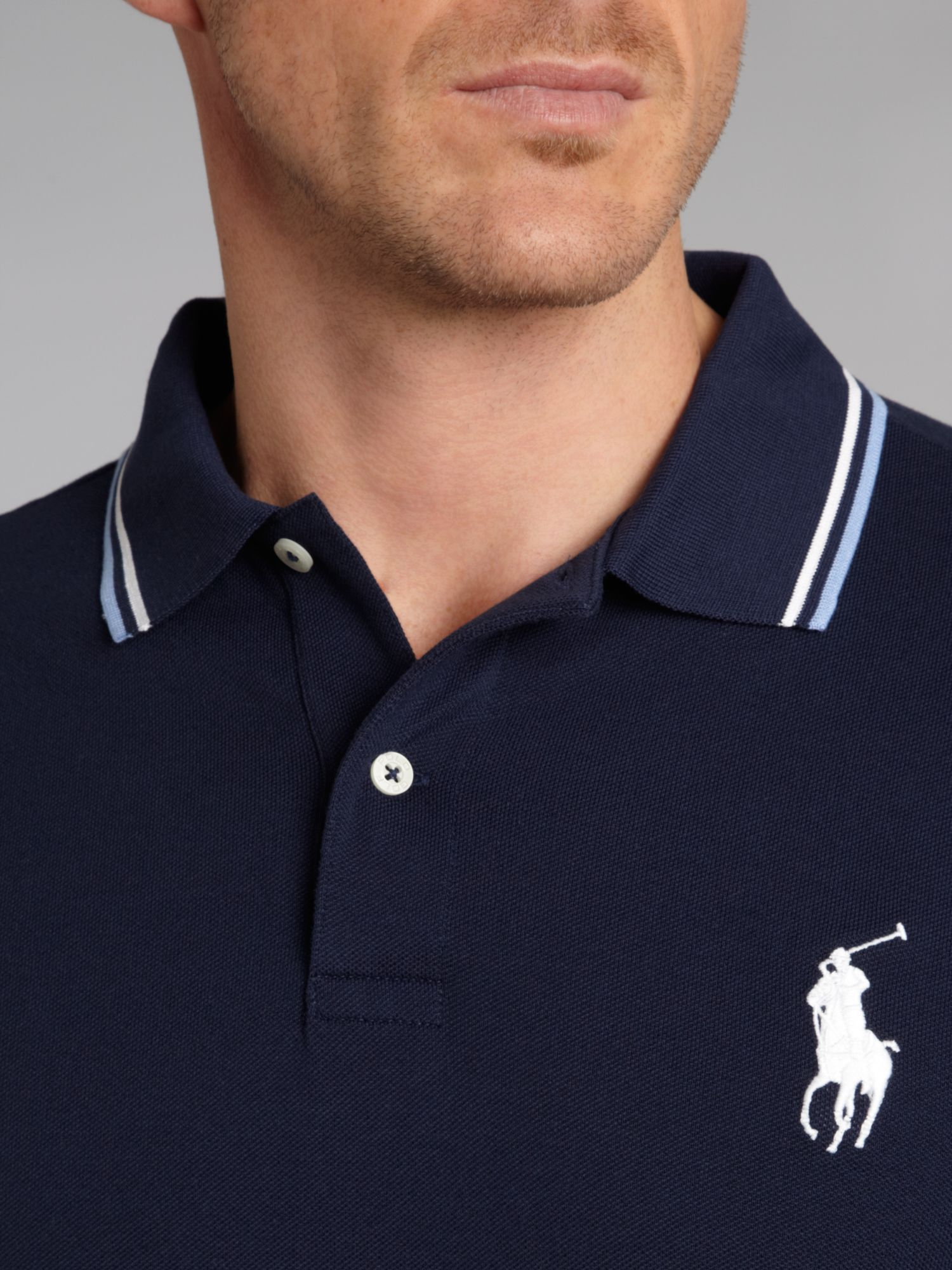 Ralph Lauren France Dark Blue Pony Short Sleeved Polo