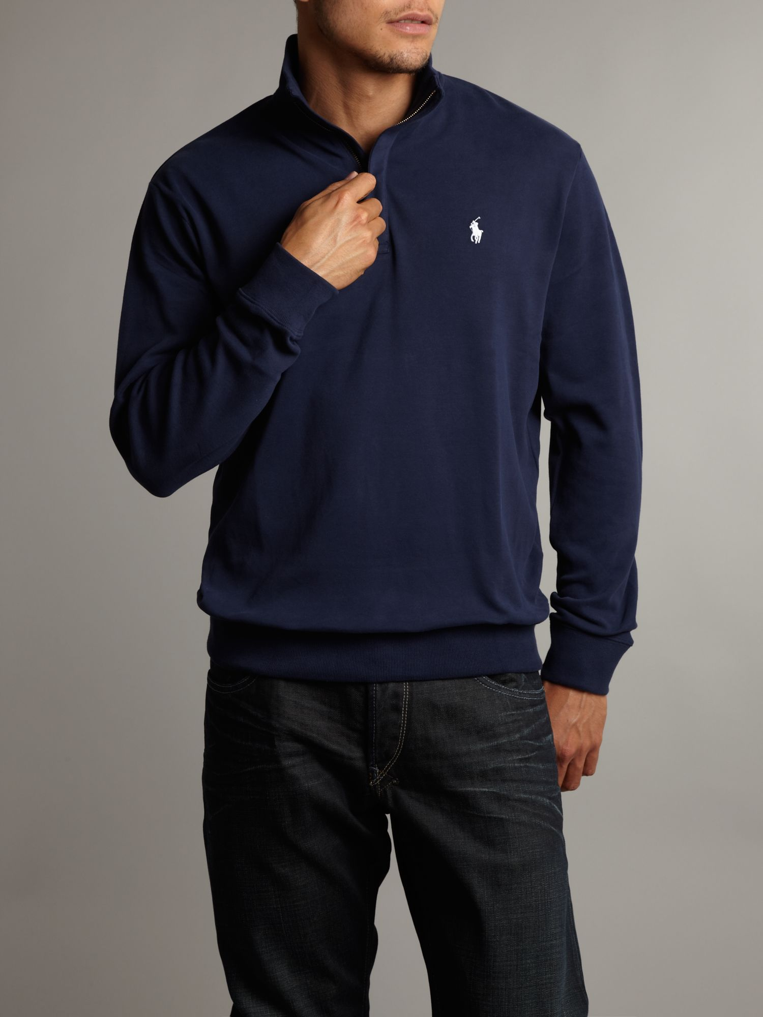 Ralph lauren golf Half Zip Sweatshirt in Blue for Men | Lyst