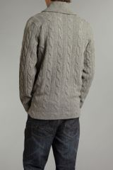 Polo Ralph Lauren Cable Knitted Cardigan in Gray for Men (grey) - Lyst