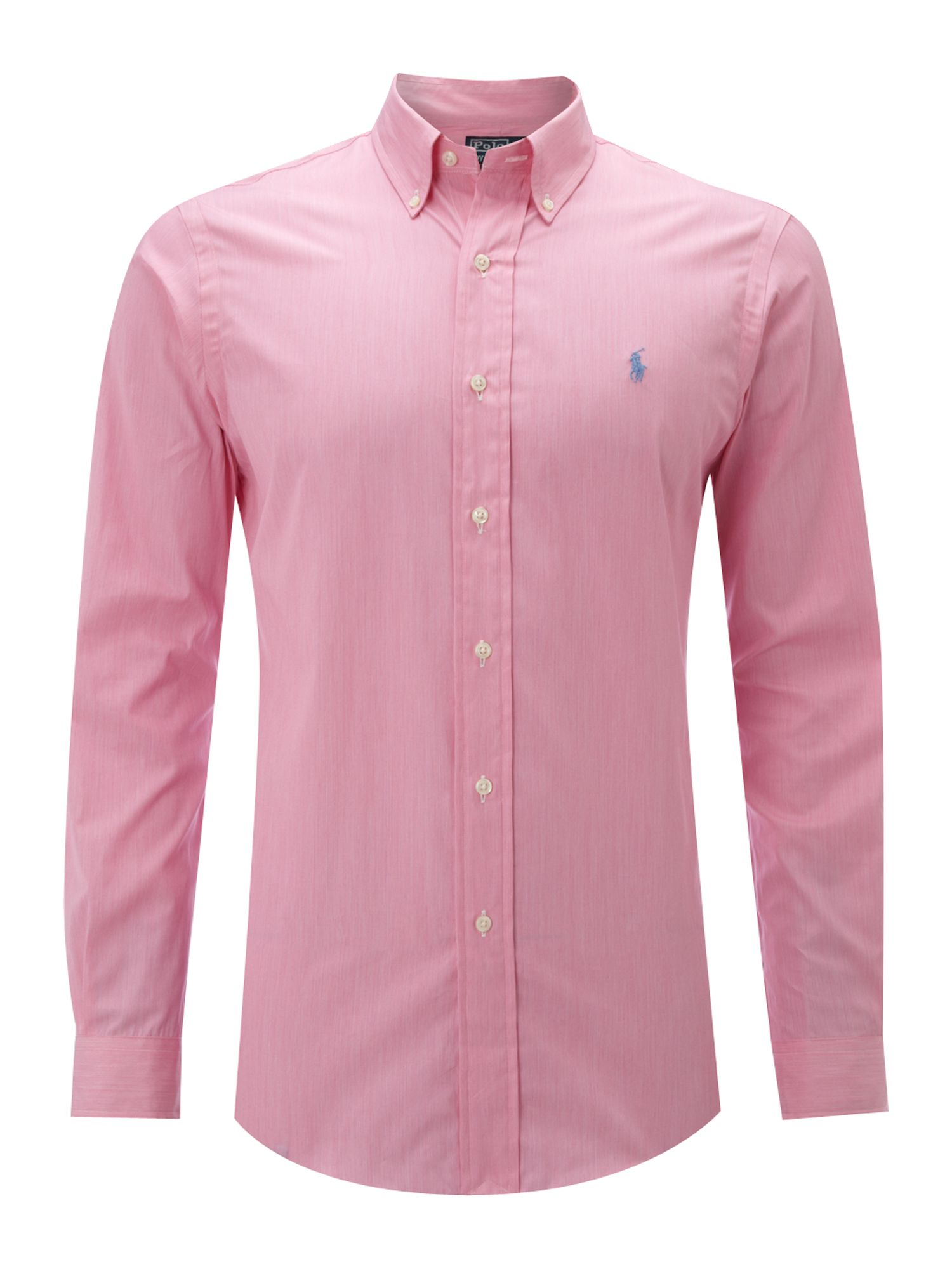 Polo Ralph Lauren Long Sleeved Custom Fitted Shirt In Pink
