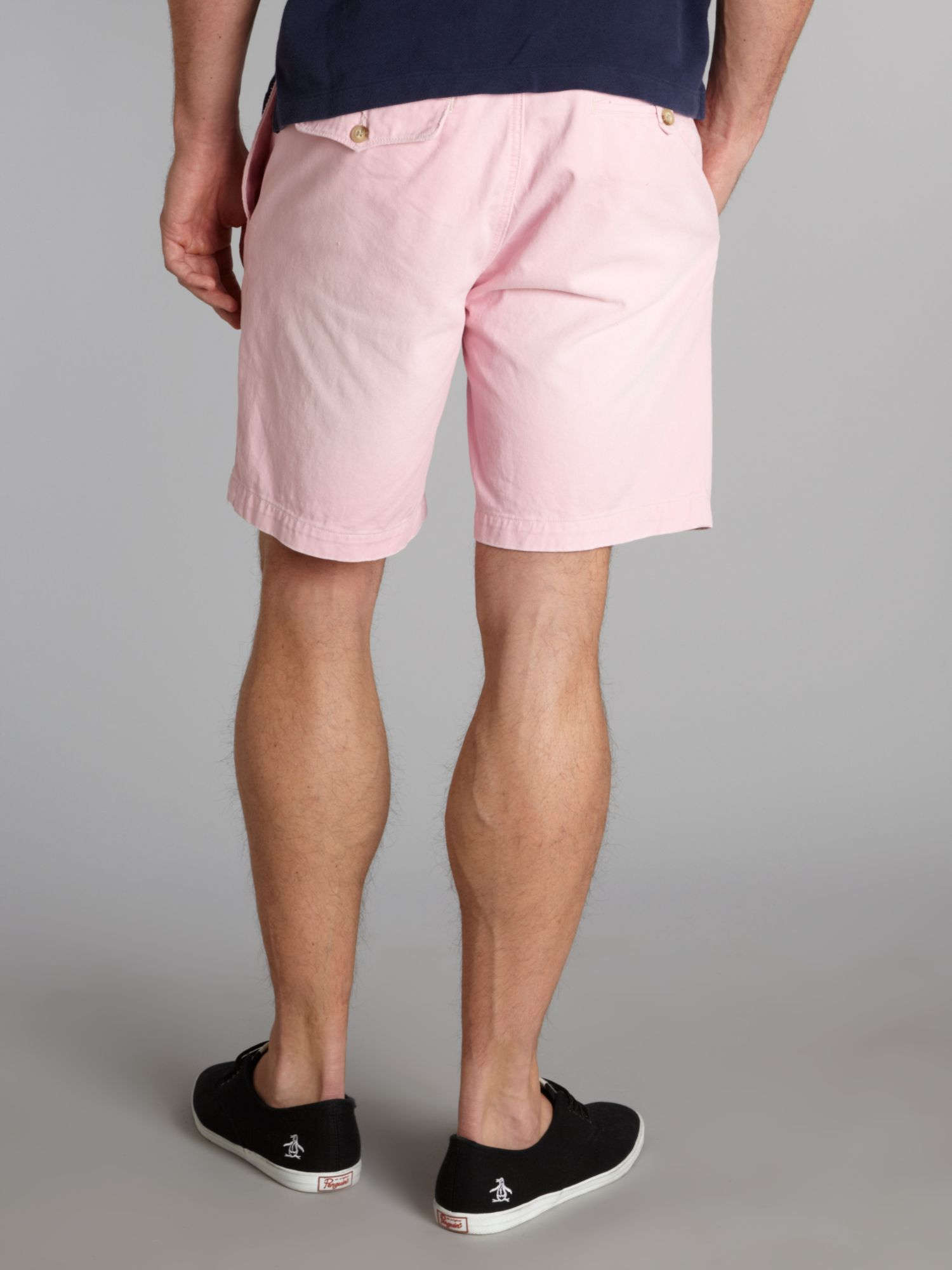 Polo ralph lauren Slim Fitted Chino Shorts in Pink for Men | Lyst
