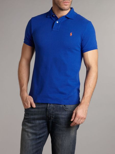 Polo Ralph Lauren Slim Fit Polo Shirt In Blue For Men