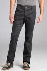 Prada Washed Black Denim Straight Leg Jeans - Lyst