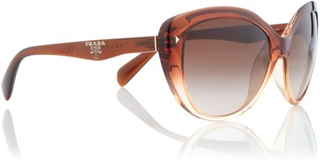 Prada Prada Sunglasses in Brown - Lyst