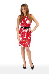 Precis Petite Seville Floral Print Dress in Floral (red) - Lyst
