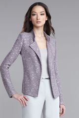 St. John Collection Textured Knit Jacket - Lyst