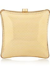 Stella McCartney Satinlined Perforated Box Clutch