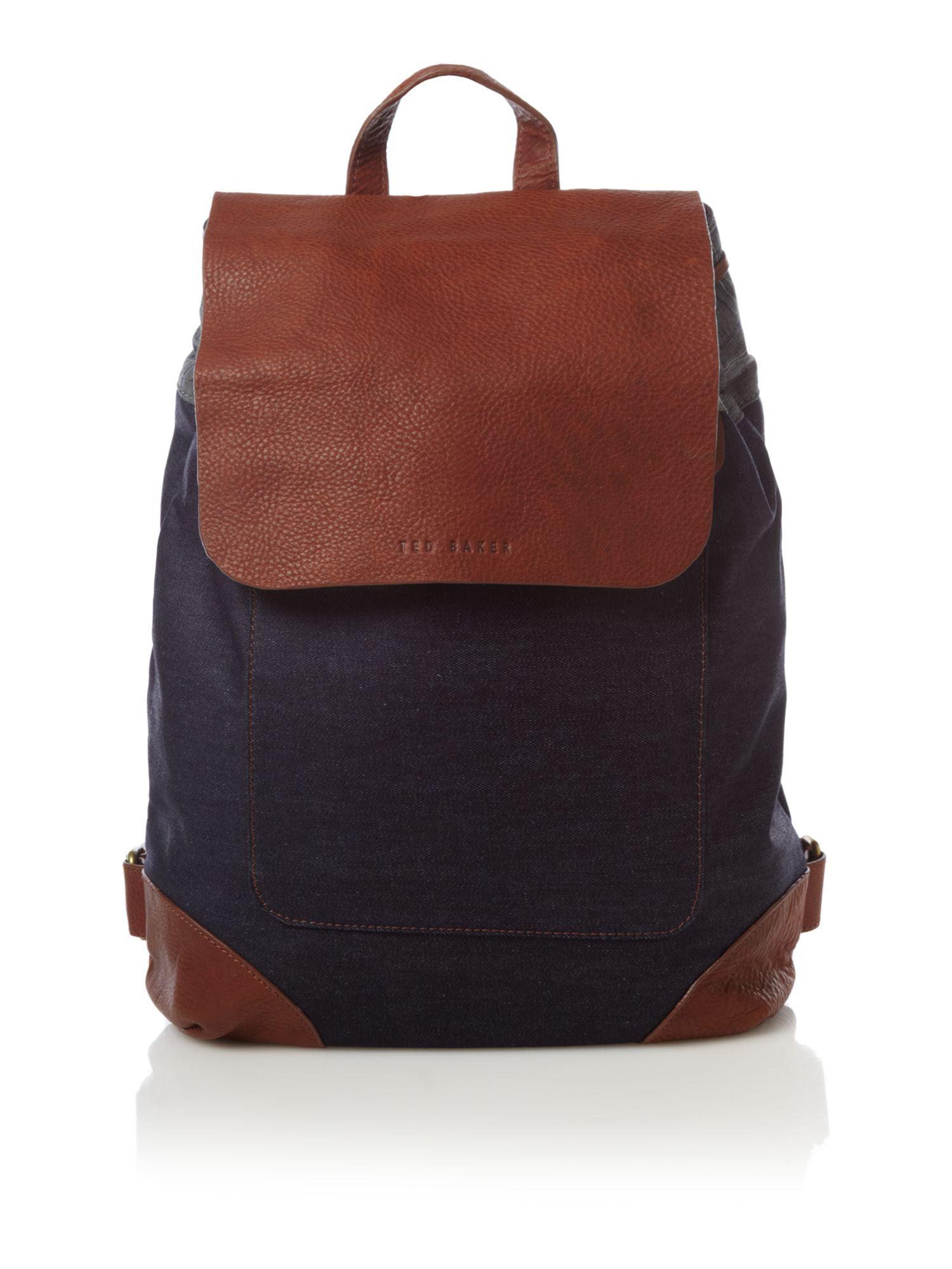 ted baker rucksack bag in blue for men lyst. Black Bedroom Furniture Sets. Home Design Ideas