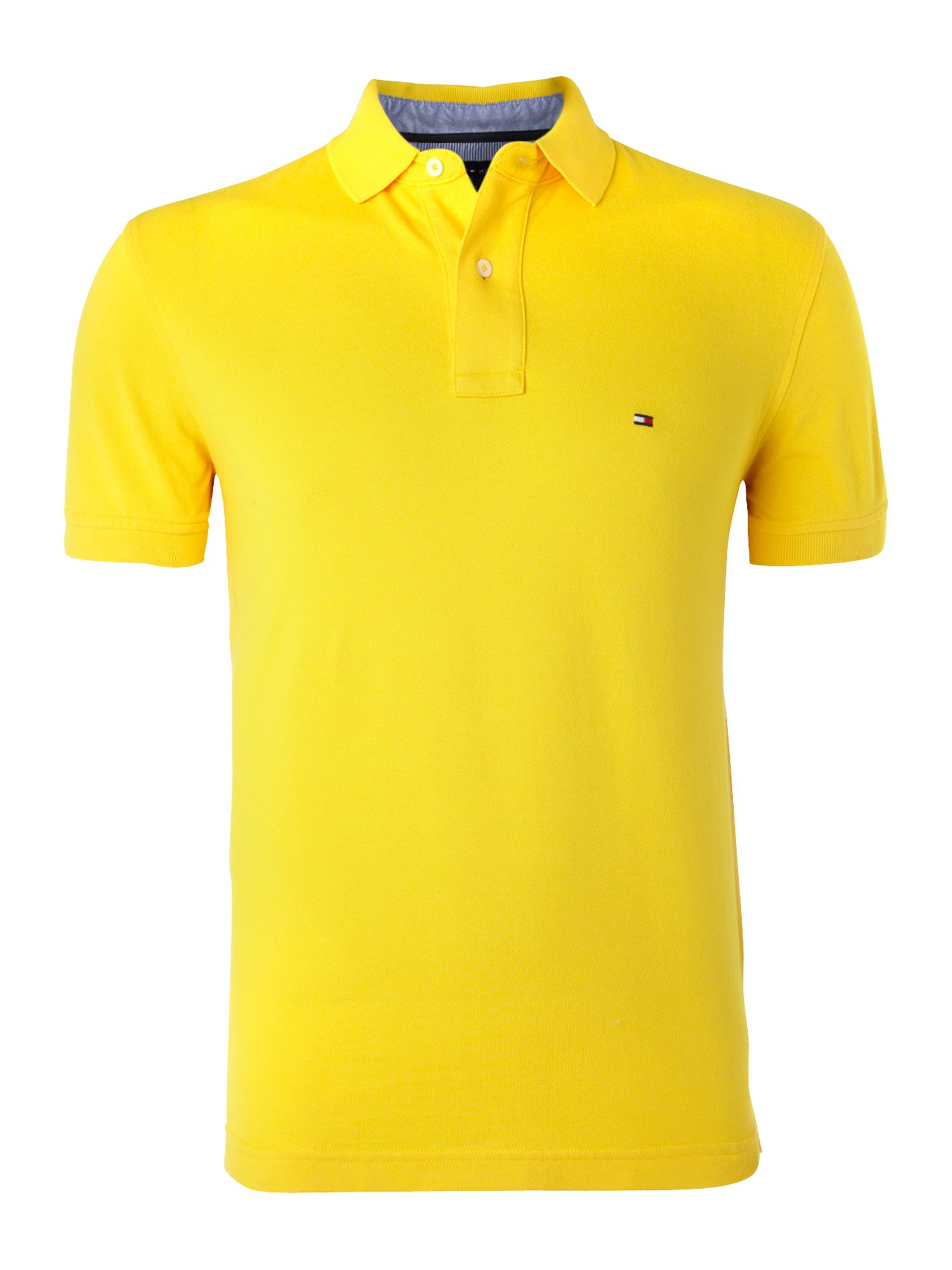 Tommy Hilfiger Shortsleeve Polo Shirt In Yellow For Men Lyst