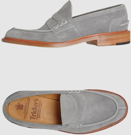 Tricker's Trickers Moccassins in Gray for Men (grey) - Lyst