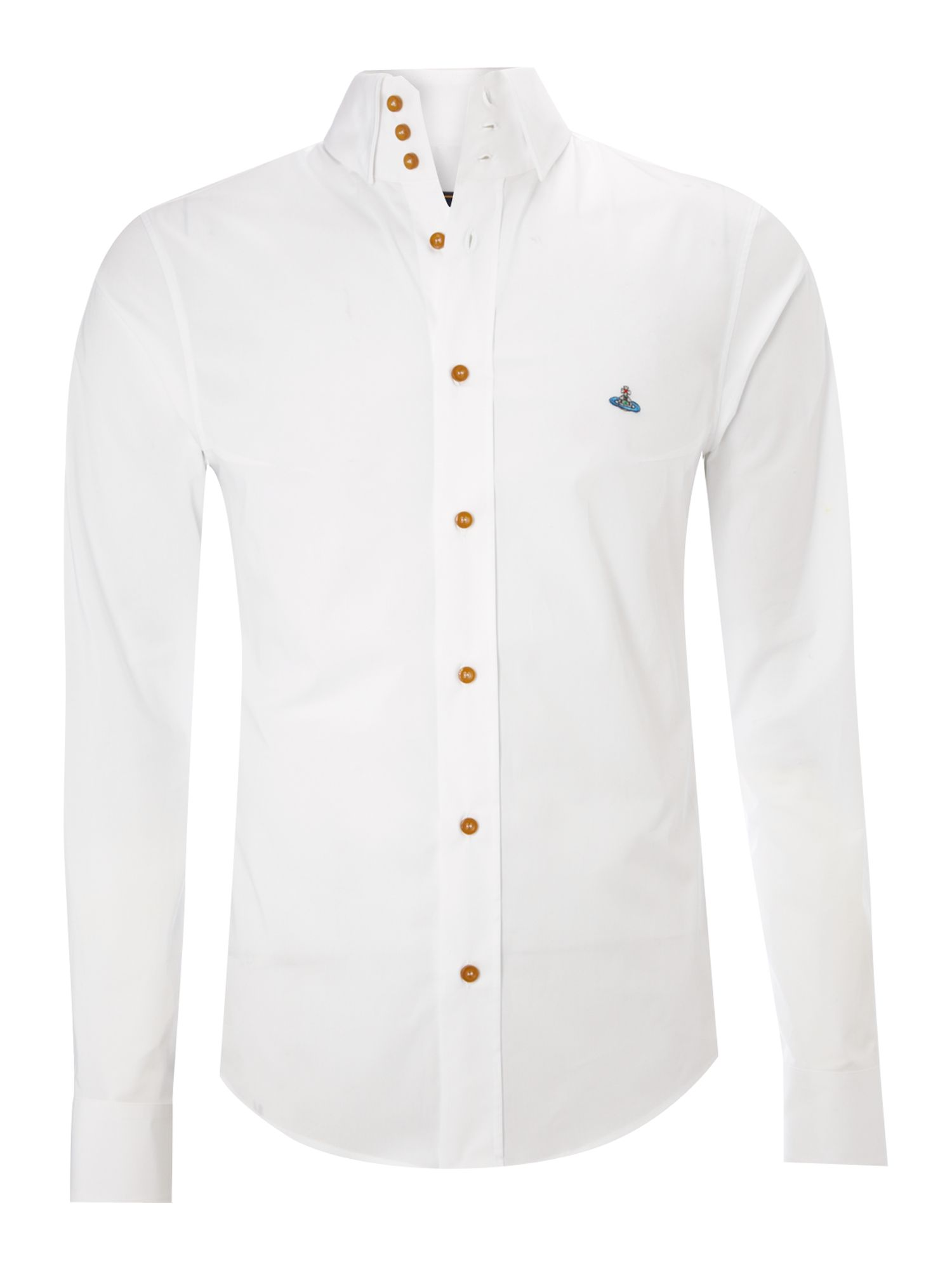 Vivienne westwood classic three button collar shirt in for Three button collar shirts