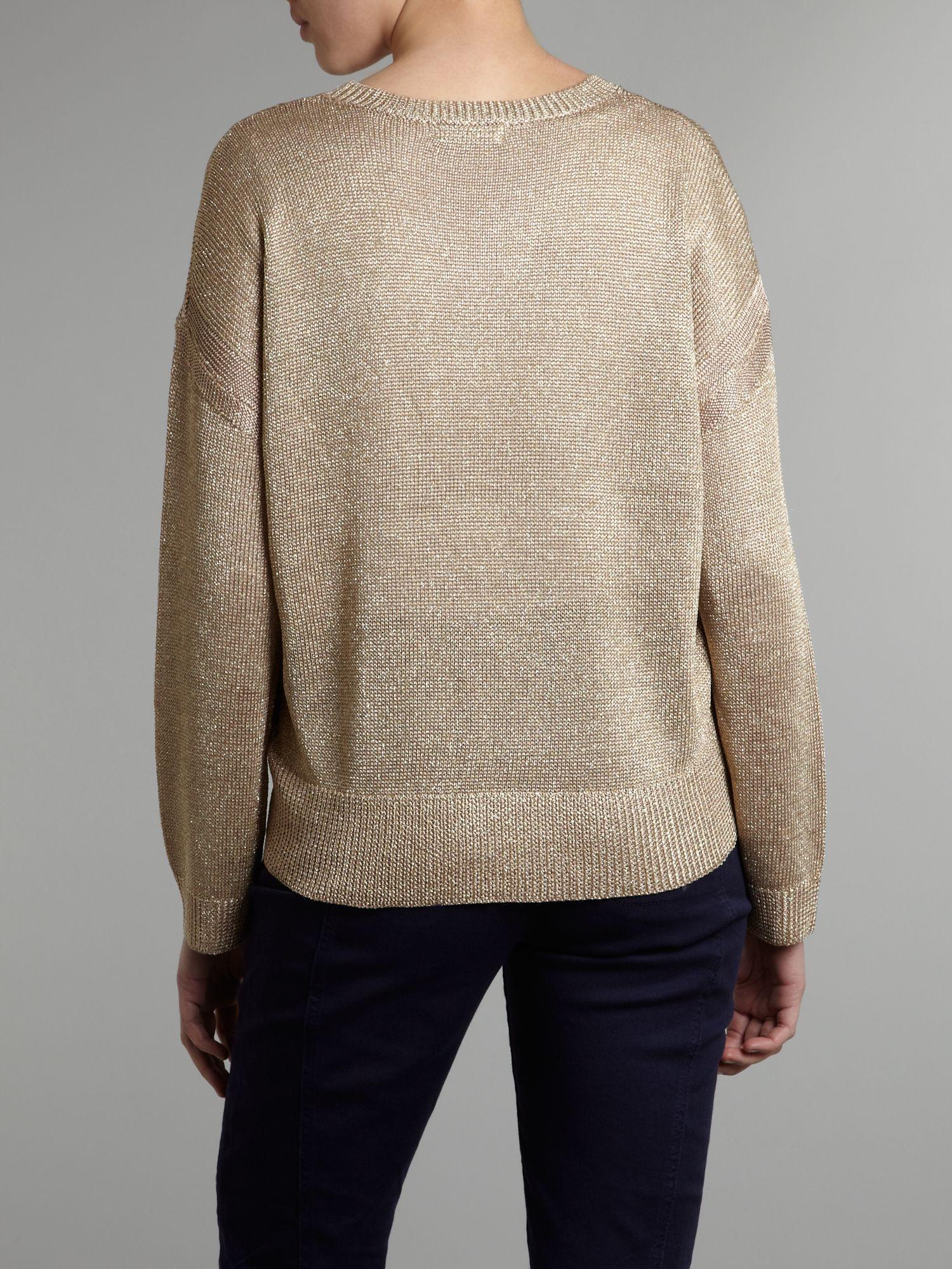Sequin Sleeve Sweater
