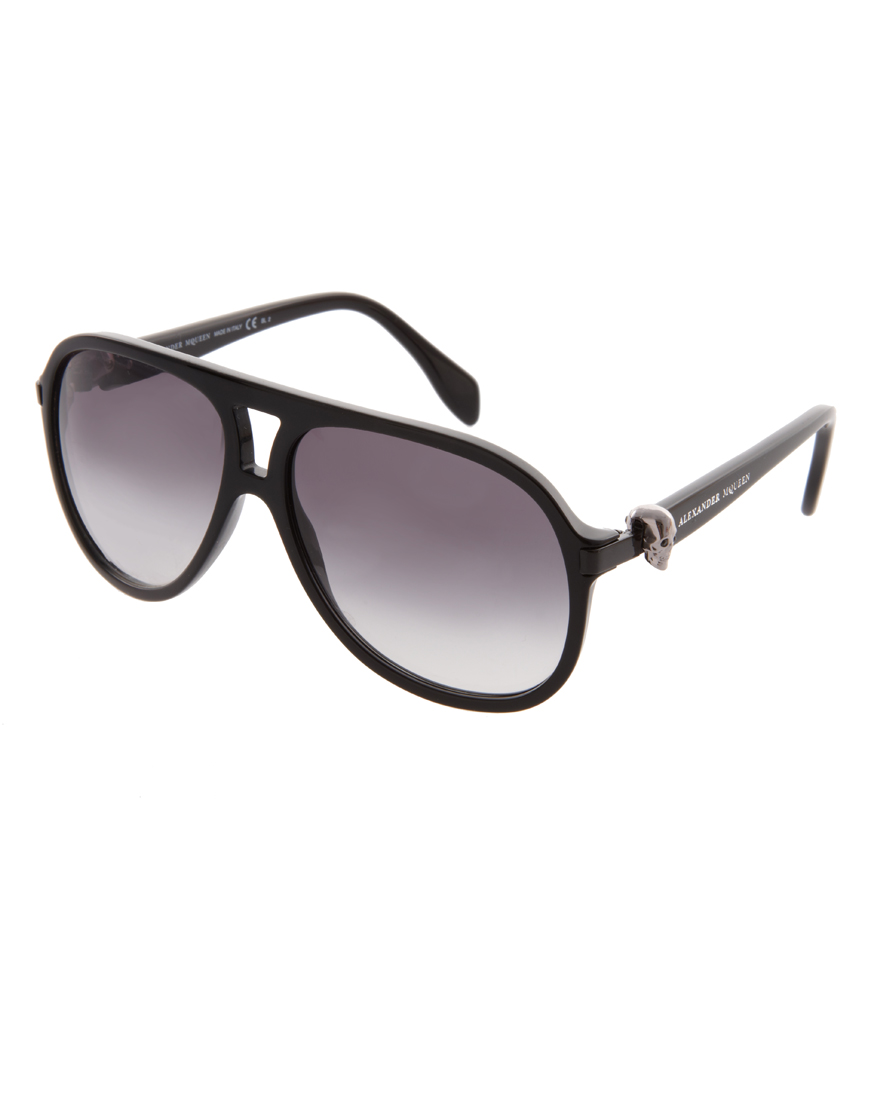 Alexander mcqueen Plastic Skull Aviator Sunglasses in ...