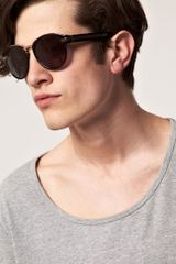 Alexander Wang Alexander Wang Round Sunglasses in Black for Men - Lyst