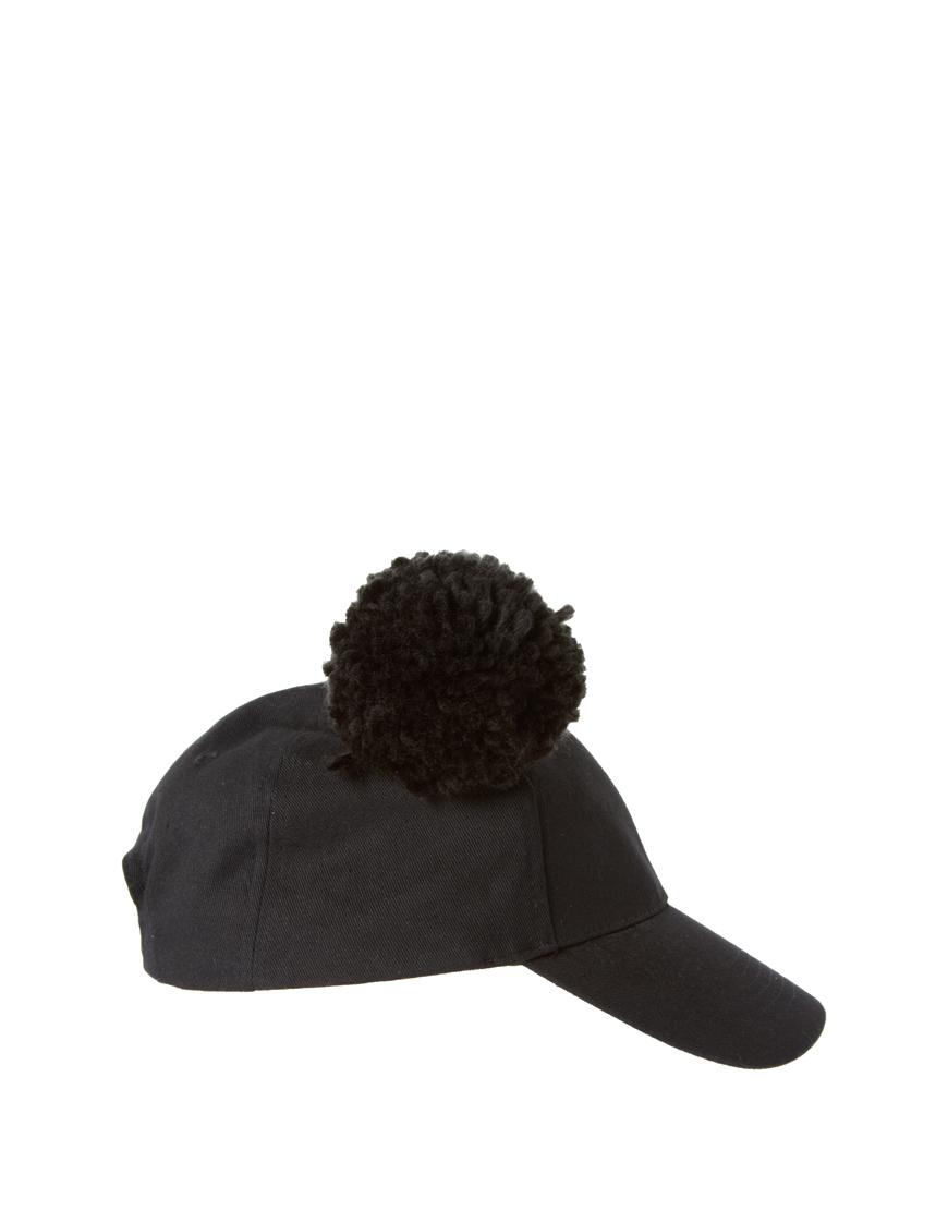 top fashion 2181a 12943 Baseball Cap With Pom Pom Ears