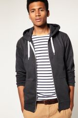 Asos Zip Through Hoodie - Lyst
