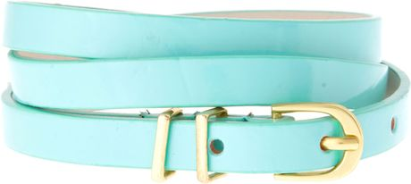 Asos Collection Asos Pastel Metal Keeper Super Skinny Belt in Green (mint) - Lyst