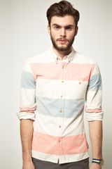 Asos Asos Oxford Shirt in Block Stripe