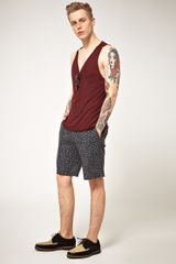Asos Asos Leopard Print Shorts in Gray for Men (grey) - Lyst