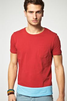 Asos T-Shirt With Colour Panel And Pocket - Lyst