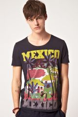 Asos Asos T-Shirt With Mexico Print - Lyst