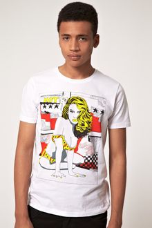 Asos T-shirt with Hand Drawn Girl Print - Lyst