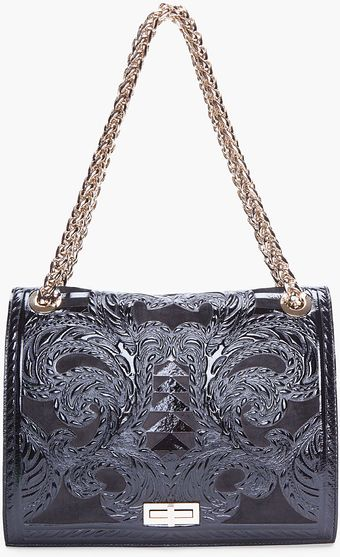 Balmain Black Ultimate Embossed Shoulder Bag - Lyst