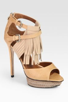 Boutique 9 Nadeline Suede and Leather Fringe Platform Sandals - Lyst