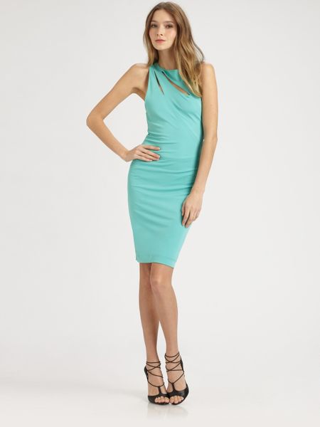 Cut25 Matte Jersey Cutout Dress in Blue (sea) - Lyst