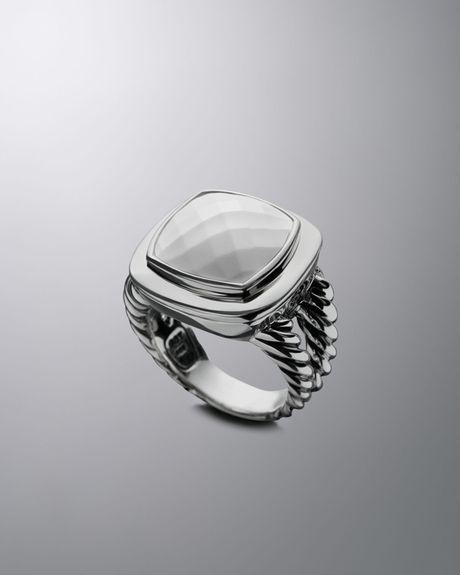 david yurman 14mm white agate albion ring in white lyst