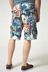 Ralph Lauren  Cargo Shorts with Floral Print in Blue for Men - Lyst