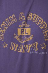 Ralph Lauren  Tshirt with Anchor Print in Purple for Men (navyblue) - Lyst
