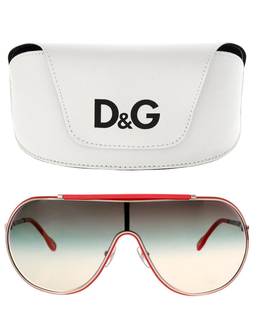 Lyst Dolce Amp Gabbana Dg Visor Sunglasses In Red For Men