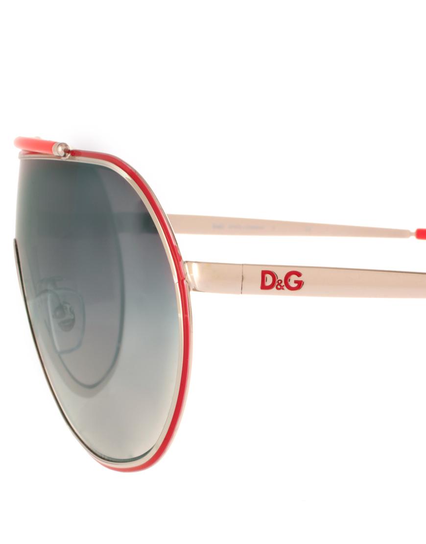 f7e8a61cc61e Lyst - Dolce   Gabbana Dg Visor Sunglasses in Red for Men