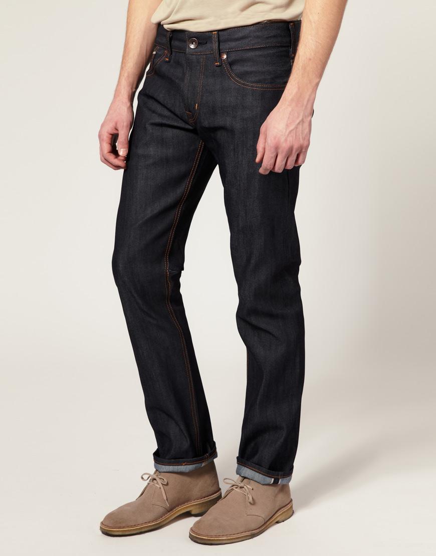 Edwin Edwin Sen Japanese Red Selvedge Skinny Jeans In Blue