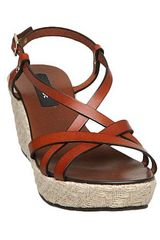 Episode Glinka E Strappy Hessian Wedge Sandals in Brown (tan) - Lyst