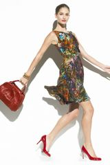Erdem Marge Gathered Printed Dress - Lyst