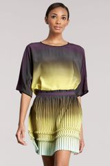 Etro Pleated Ombre Skirt - Lyst