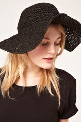 French Connection French Connection Floppy Felicity Hat - Lyst