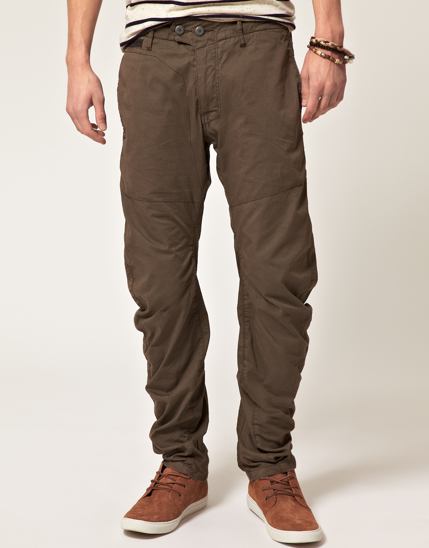star raw gstar bronson tapered chino in green for men lyst. Black Bedroom Furniture Sets. Home Design Ideas