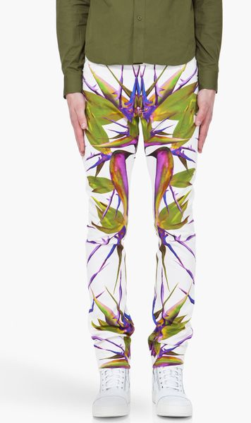 Givenchy Birds Of Paradise Jeans in White for Men (ivory ...