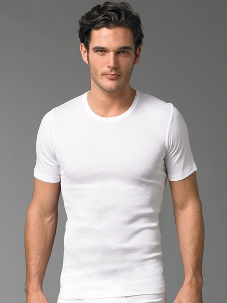 Hanro Crewneck Tee in White for Men - Lyst