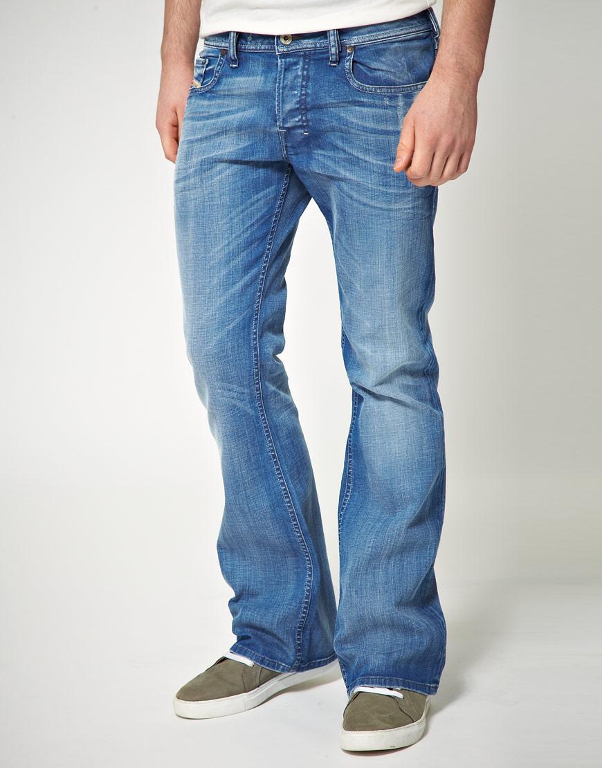 Diesel Zathan Bootcut Jeans In Blue For Men Lyst