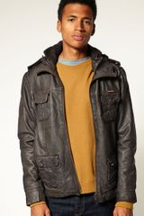 Superdry Superdry Brad Leather Jacket - Lyst