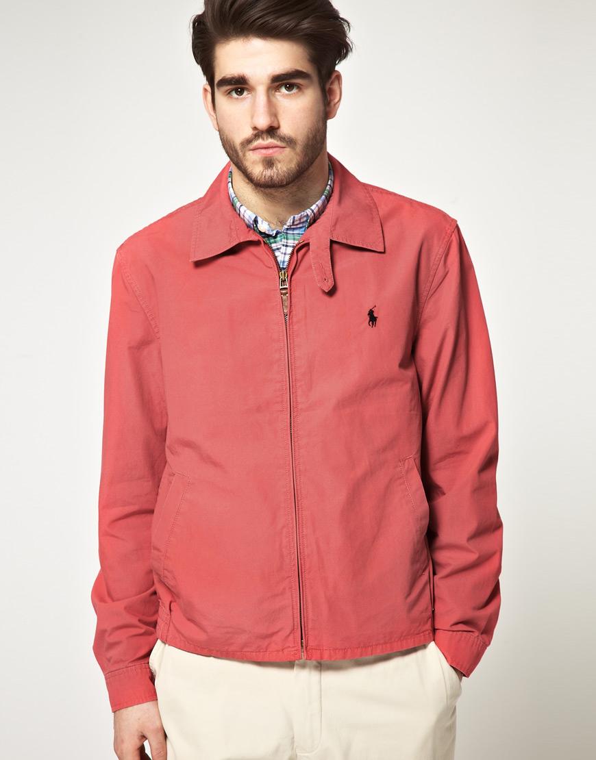 Ralph Lauren Polo Men's Red Windbreaker Mercer Jacket ...