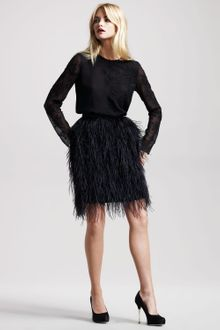 Jason Wu Bianca Ostrich Feather Skirt - Lyst