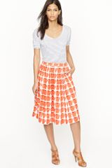 J.Crew Pleated Jardin Skirt in Delicious Apple - Lyst