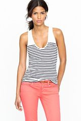 J.Crew Vintage Cotton Stripe Pocket Tank - Lyst
